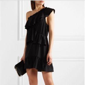 IRO Brooka One-Shoulder Mini Dress 100% SIlk